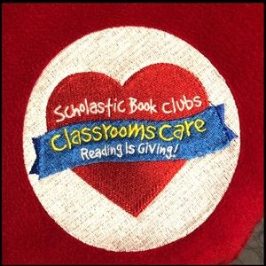 Scholastic Book Clubs Red Fleece Blanket